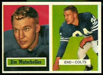 Jim Mutscheller 1957 Topps football card