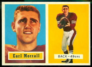 Earl Morrall 1957 Topps football card