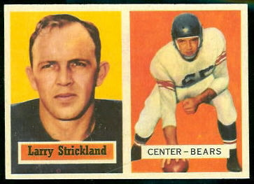Larry Strickland 1957 Topps football card