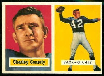 Charley Conerly 1957 Topps football card