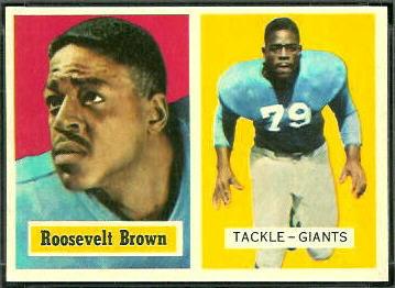 Roosevelt Brown 1957 Topps football card