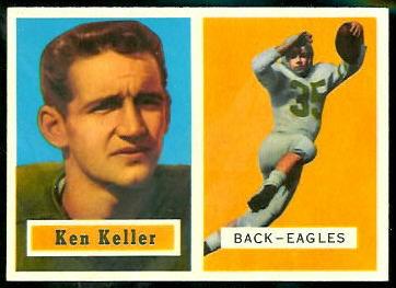 Ken Keller 1957 Topps football card