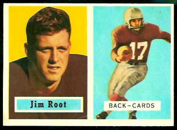 James Root 1957 Topps football card