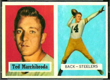 Ted Marchibroda 1957 Topps football card