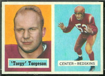 Torgy Torgeson 1957 Topps football card