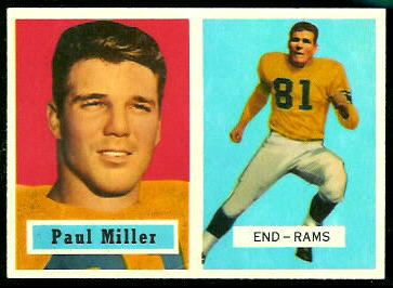 Paul Miller 1957 Topps football card