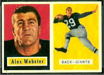 Alex Webster 1957 Topps football card