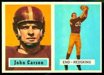John Carson 1957 Topps football card