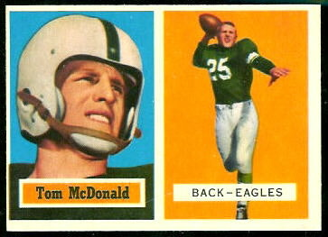 Tommy McDonald 1957 Topps football card
