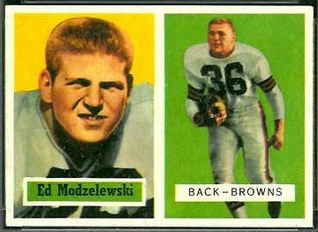 Ed Modzelewski 1957 Topps football card