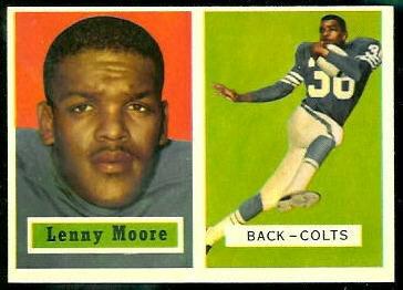 Lenny Moore 1957 Topps football card