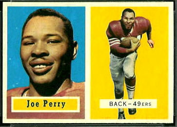 Joe Perry 1957 Topps football card