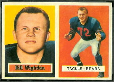 Bill Wightkin 1957 Topps football card