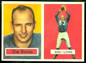 Jim Doran 1957 Topps football card
