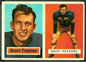 Howard Ferguson 1957 Topps football card