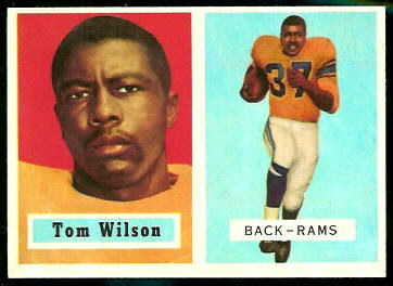Tom Wilson 1957 Topps football card