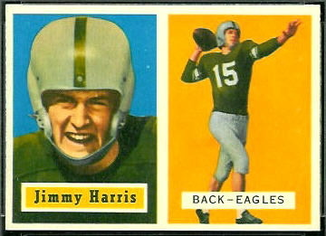 Jimmy Harris 1957 Topps football card