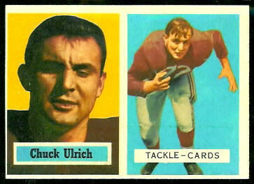 Chuck Ulrich 1957 Topps football card