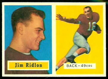 Jim Ridlon 1957 Topps football card