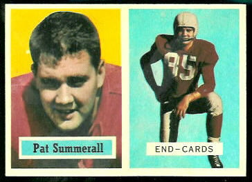 Pat Summerall 1957 Topps football card