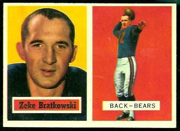 Zeke Bratkowski 1957 Topps football card