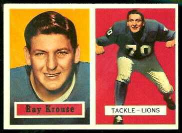 Ray Krouse 1957 Topps football card