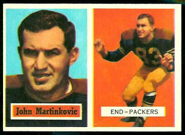John Martinkovic 1957 Topps football card