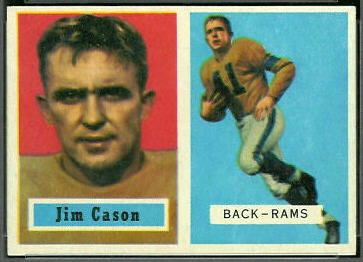 Jim Cason 1957 Topps football card