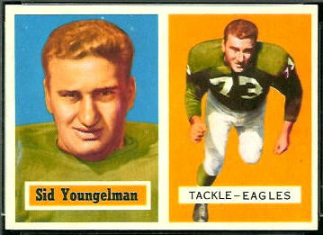 Sid Youngelman 1957 Topps football card