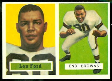 Len Ford 1957 Topps football card