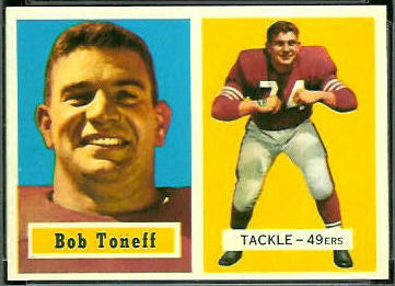 Bob Toneff 1957 Topps football card
