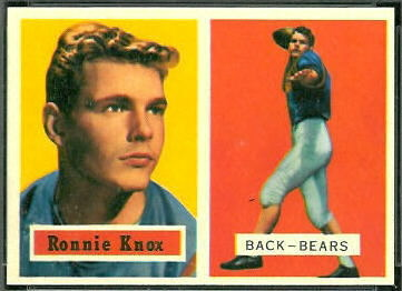 Ronnie Knox 1957 Topps football card