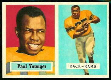 Tank Younger 1957 Topps football card