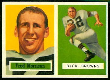 Fred Morrison 1957 Topps football card