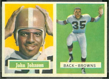 John Henry Johnson 1957 Topps football card