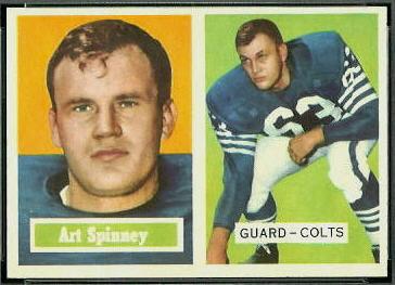Art Spinney 1957 Topps football card