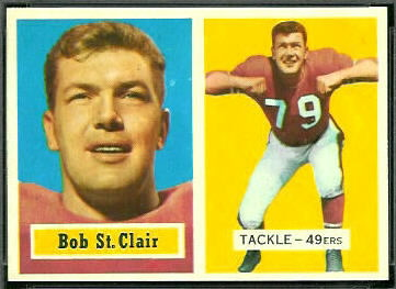 Bob St. Clair 1957 Topps football card