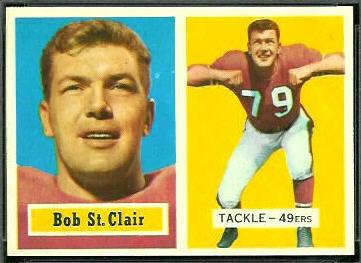 Bob St. Clair 1957 Topps football card