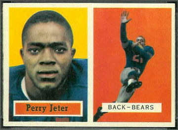 Perry Jeter 1957 Topps football card