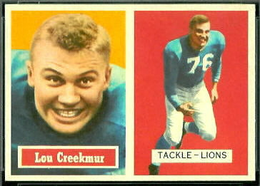 Lou Creekmur 1957 Topps football card