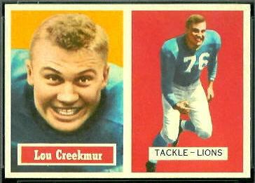 Lou Creekmur 1957 Topps football card
