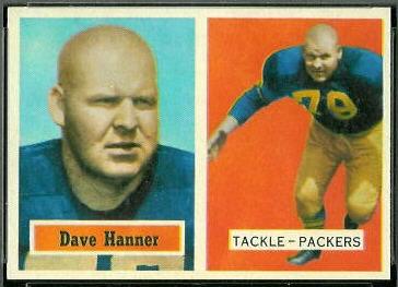 Dave Hanner 1957 Topps football card
