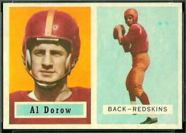 Al Dorow 1957 Topps football card