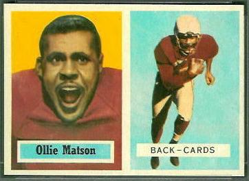Ollie Matson 1957 Topps football card