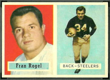Fran Rogel 1957 Topps football card