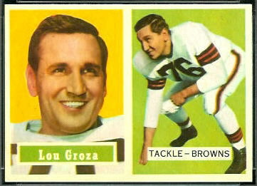 Lou Groza 1957 Topps football card