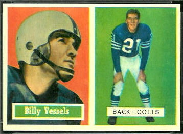 Billy Vessels 1957 Topps football card
