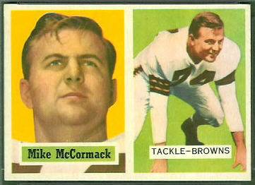 Mike McCormack 1957 Topps football card