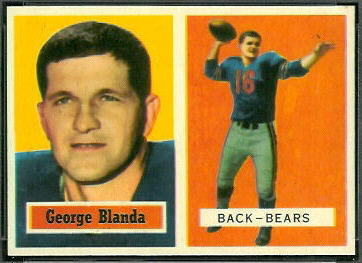George Blanda 1957 Topps football card