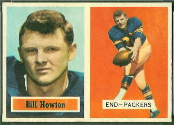 Bill Howton 1957 Topps football card